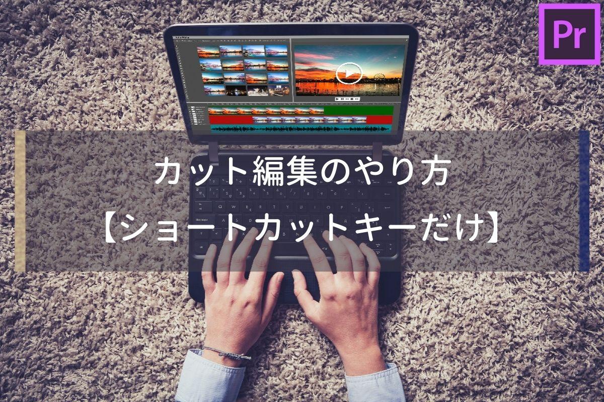 さらばマウス!ショートカットキーだけでカット編集する方法【Premiere Pro】